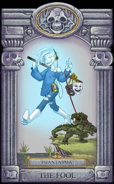 Ghoul School Tarot: Fool by on DeviantArt Cartoon Tv Shows, Cartoon Games, Ghoul School, Different Drawing Styles, Scooby Doo Mystery Incorporated, Cartoon Crossovers, Spooky Scary, Cool Cartoons, Movie Characters
