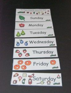 Hungry Caterpillar Days of the Week-1 - Teacher's Land - Resources Activities Ideas Lesson Plans for Teachers Homeschoolers Parents School Counselors