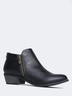 Jed Low Heel Western Booties