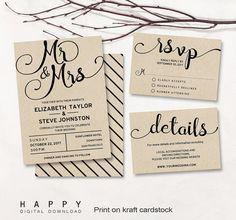 Hey, I found this really awesome Etsy listing at https://www.etsy.com/listing/277085094/printable-wedding-invitation-set
