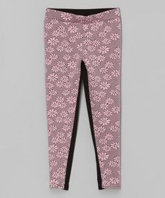 Look what I found on #zulily! Light Pink Floral Jacquard Leggings - Toddler & Girls by Dreamstar #zulilyfinds