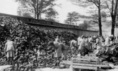 Kanada clothing depot in Birkenau: historical picture