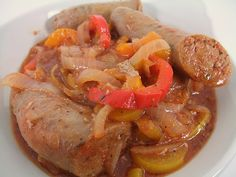 Baked Sausage, Peppers and Onions sausag pepper, sausages, peppers, onions, pork, favorit recip, tasti recip, columbus foodi, bake sausag