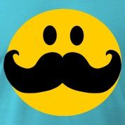 cartoon smiling faces | Funny Mustache Smiley face cartoon T-Shirts