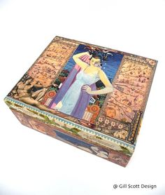 decoupaged trinket box