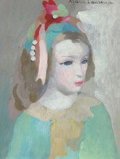 Marie Laurencin (1885-1956), Jeune femme aux perles dans la chevelure, huile sur toile, 35 x 27 cm. Estimation : 35 000/40 000 € Lundi 15 août, Cannes. Besch Auction OVV.