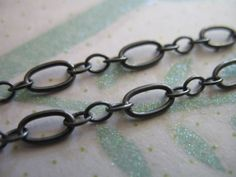 ❥ Oxidized Sterling Silver Chain, Long n Short Cable Chain
