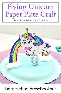 Do your kids love unicorns? If so, you NEED this unicorn paper plate craft! To make it easy for you, I've got a free unicorn template for you, too! #unicorncraft #paperplatecraft #uisforunicorn #homeschoolprek Preschool Arts And Crafts, Preschool Printables, Preschool Lessons, Fun Crafts, Unicorn Paper Plates, Unicorn Crafts, Paper Plate Crafts, Craft Projects For Kids, Hands On Activities