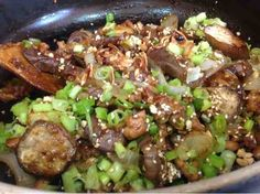 Roasted Eggplant & Sweet Onion -- 香烤魚香甜蔥金錢茄子