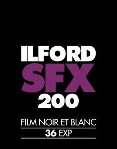 Ilford SFX 200 Photo Film Screenprint  –   NOMO Design