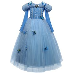 >> Click to Buy << Fantasy Fairy Princess Dress Girl Butterflies Tulle Gown Baby Kids Role-play Costume Children Kids Girls School Prom Party Dress #Affiliate