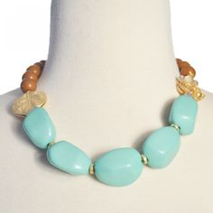 Colorblock Necklace Mint - could be fun for the rehearsal dinner, wedding day or any day!