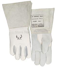 Deerskin Leather Work Gloves TIG MIG Grain Cow Leather Welding Glove #Affiliate