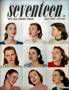 Vintage Seventeen Magazine Covers from the 1940s | Adored Vintage Blog
