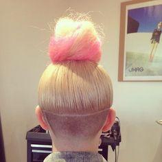 kelliecunniff:    Fresh fade. #undercut #topknot #shagforlife #bun
