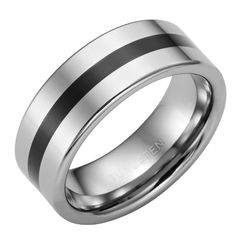 Be unique with RnB Modern Art Tungsten Rectangle statement band. Featuring a quality lifetime lasting space silver ring with a black central stripe. Ring Ring, Unique Mens Rings, Rings For Men, Silver Wedding Bands, Wedding Rings, Silver Man, Silver Rings, Sapphire Band, Men Rings