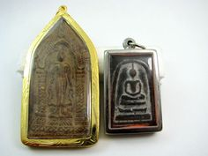 Currently at the #Catawiki auctions: Phra Ruang Perd and Phra Somdej Thai Buddhist amulets - Thailand - 2nd half o...