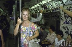 Meryl Streep on the subway, August 1981  Streep lived in SoHo at the time this picture was taken