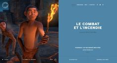 web trend - Vertically split website layout inspiration - La Grande Evasion