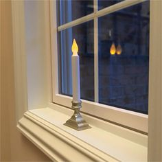 612 Vermont Battery Operated LED Window Candles with Flickering Amber Flame, Automatic Timer, Inches Tall (Pack of Pewter) Led Window Candles, Candle Sconces, Christmas Window Decorations, Battery Operated, Vermont, Pewter, Indoor Outdoor, Amber, Wall Lights