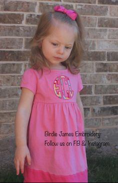 Color block monogram dress back to school Girls 0 3 6 12 18 24 mo 2T 3T 5T Embroidery Personalized w/ initials appliqué navy pink teal white by BirdieJamesEandS on Etsy https://www.etsy.com/listing/188429353/color-block-monogram-dress-back-to