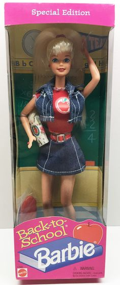 Mattel Back-to-School Barbie With Cut Outs This item is NOT in Mint Condition and is in no way being described as Mint or even Near Mint. Our toys have not always lead the perfect life, nor have they