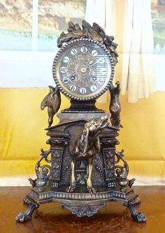 Superb Very Large Antique 19th Century French Figural Clock Japy Freres Movement Professional Design Antique (pre-1930) Clocks