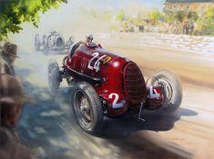 Tazio Nuvolari - 1936 Hungarian GP by donpackwood on DeviantArt