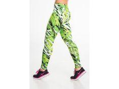 Běžecké/Fitness Legíny 26 - Green Flourishes