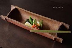 Bizen bamboo bowl. By Hiroyuki WAKIMOTO.