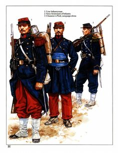 Osprey - Men at Arms 233 - French Army Franco-Prussian War Imperial Troops - Academia Militar, Osprey Publishing, Ww1 Soldiers, French History, History Pics, French Empire, French Army, Second Empire, Army & Navy