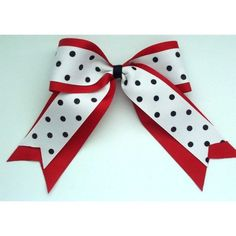Large TwoRibbon Novelty Cheer  Bow  by Emmabowtique on Etsy, $8.00