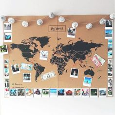 Mapamundi de Corcho – Mapa Político Mundo – Woody… – Cork World Map – World Political Map – Woody … – map Related posts: Polaroid-Foto-Weltkarte – – Do it yourself: make a mosaic world map out of color … Travel Room Decor, Diy Home Decor Bedroom, Bedroom Wall, Diy Room Decor Tumblr, Travel Bedroom, World Map Decor, World Map Wall Art, Diy Wanddekorationen, Inspiration Wall