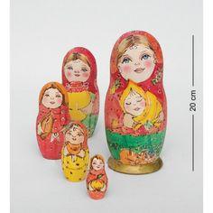 """""""Anastasia"""" Set of 5 Miniature Nesting Dolls nesting doll, matreshka, Russian matreshka, babushka, gift ideas, souvrussia"""