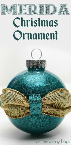Celebrate Pixar's favorite princess with this Brave-inspired Merida Christmas ornament! Get the details on how to make your own along with lots of DIY Disney Ornament inspiration at As The Bunny Hops! Disney Ornaments, Christmas Ornaments To Make, Christmas Balls, Christmas Fun, Christmas Decorations, Disney Diy, Disney Crafts, Disney Stuff, Disney Magic
