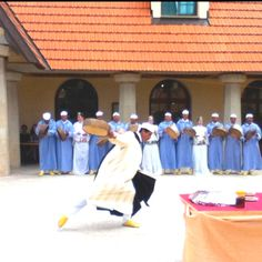 Berber dancing at Al Akhawayn University in Ifrane, Morocco!
