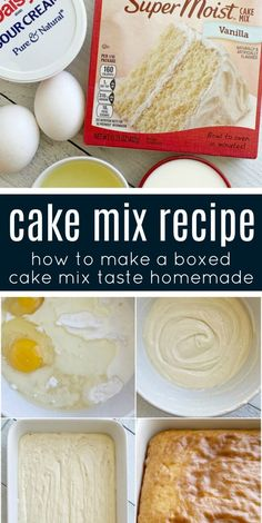 Love the convenience of a boxed cake mix but want it to taste richer and homemade? Then you will love this Cake Mix Recipe which will turn any boxed cake mix Box Cake Recipes, Cupcake Recipes, Dessert Recipes, Ark Recipes, Recipes Using Cake Mix, Recipes Dinner, Potato Recipes, Pasta Recipes, Crockpot Recipes