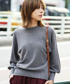 【ZOZOTOWN|送料無料】The Dayz tokyo(ザ デイズ トーキョー)のニット/セーター「Sleeve volume knit」(161642602101)を購入できます。 Medium Hair Cuts, Medium Hair Styles, Short Hair Styles, Middle Hair, Mullet Hairstyle, Hair Arrange, Heart Hair, Asian Hair, Hair Images