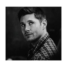 10x12 About A Boy   Dean Winchester: Black & White   Pinterest ❤ liked on Polyvore featuring fandom related