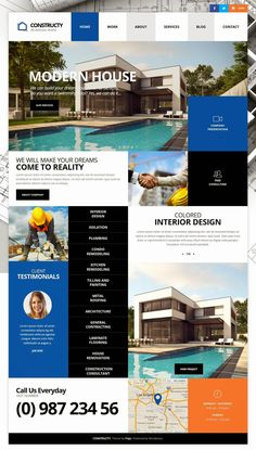 It can be used as multiple purpose #WordPress theme such as construction, architecture, constructor, corporate, renovation, plumber, engineer, painter, or remodeling #website. #service