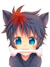 anime neko he Anime Neko, Anime Cat Boy, Manga Anime, Art Anime, Anime Kunst, Boy Cat, Anime Boys, Neko Boy, Chibi Boy