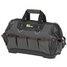 """Stanley 18"""" open mouth tool bag"""