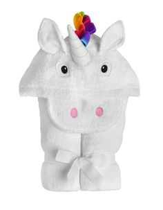 Yikes Twins Unicorn Towel You can't buy her the unicorn she's been wanting, but you can make getting warm and dry a bit more magical. This fantasy-filled towel is a substantial cotton terry embellished with an embroidered face, a cuddly polar fleece Purple Unicorn, Baby Unicorn, Unicorn Birthday, Hooded Bath Towels, Baby Towel, Beach Kids, Grad Gifts, Bath Toys, Diy Toys