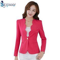 78d9ca96f9 Tienda Online 2018 caliente suave primavera otoño Oficina mujeres Blazers y  chaquetas Blaser femenino señora Oficina
