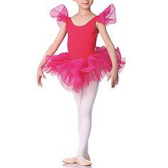 Performance Dacewear Cotton Short Sleeve Ballet Dress For Kids More Colors