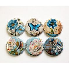 Floral Magnets Flower Magnets Floral Magnets Button Magnets Locker... (11 CAD) ❤ liked on Polyvore featuring home, home decor, office accessories, grey, home & living, kitchen & dining, kitchen décor, refrigerator magnets, door locker and magnets refrigerator