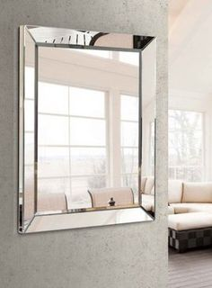 Espejo rectangular de cristal. Dorm Storage, Interior And Exterior, My House, Oversized Mirror, Living Room, Diana, Wall, Design, Furniture