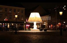 The Giant Lamp in Malmö, Sweden, #lamp #lillatorg #malmo #giantlamp #lamps #skåne #skane #sweden #winter