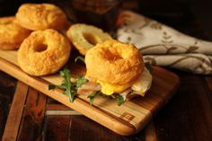 Maria's HEALTHIFIED BAGELS - option 1 - VARIATIONS listed for EVERYTHING, Onion & Cinnamon bagel  Bacon Jalapeno Cheddar Buns by Annette Mahoney Devine ¼ c Nutivia coconut flour ¼ c natural factors unflavored whey protein 1 t bobs red mill baking powder 1 t guar gum ½ t celtic salt 1 pickled jalapeno minced ¼ c shredded sharp cheddar cheese 3 strips cooked bacon crumbled ¼ c melted bacon fat 5 lg eggs Can use a muffin top pan and bakes for 17 minutes. Use for sandwiches & burgers. Must try…