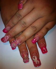 Day 274: Race For The Cure Nail Art - - NAILS Magazine